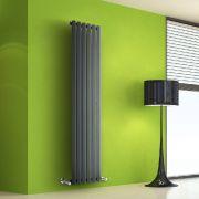 Radiador de Diseño Vertical - Antracita - 1600mm x 420mm x 60mm - 946 Vatios - Rombo
