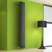 Radiador de Diseño Vertical - Antracita - 1780mm x 280mm x 60mm - 700 Vatios - Rombo