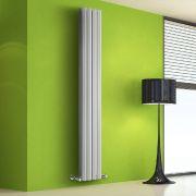 Radiador de Diseño Vertical Doble - Blanco - 1780mm x 280mm x 86mm - 1079 Vatios - Rombo