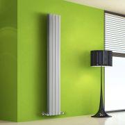 Radiador de Diseño Vertical Doble - Blanco - 1600mm x 280mm x 86mm - 983 Vatios - Rombo