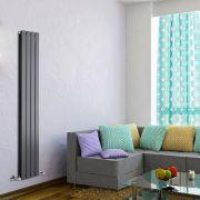 Radiador de Diseño Vertical Doble - Antracita - 1600mm x 280mm x 60mm - 881 Vatios - Delta