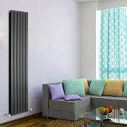 Radiador de Diseño Vertical Doble - Negro - 1780mm x 420mm x 60mm - 1484 Vatios - Delta
