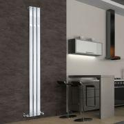 Radiador de Diseño Vertical - Cromado - 1800mm x 225mm x 50mm - 334 Vatios - Delta