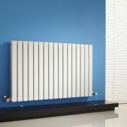 Radiador de Diseño Horizontal Doble - Blanco - 635mm x 1000mm x 71mm - 1586 Vatios - Sloane