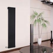 Radiador de Diseño Vertical - Negro - 1780mm x 354mm x 80mm - 1043 Vatios - Savy