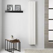 Radiador de Diseño Vertical Doble con conexión Central - Aluminio - Blanco - 1800mm x 280mm x 67mm -  1119 Vatios  - Kett