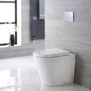 Inodoro WC Oval 410x355x565mm con Tapa de WC Soft Close -  Alswear