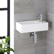 Lavabo Suspendido Rectangular de Cerámica 450x250mm - Sandford