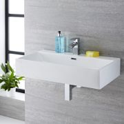 Lavabo Suspendido Rectangular de Cerámica 750x420mm - Sandford
