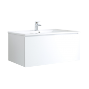 Mueble de Lavabo Mural Moderno de 1000mm Color Blanco Opaco con Lavabo Integrado para Baño  - Newington