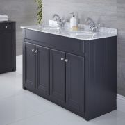 Mueble de Lavabo Tradicional Color Antracita 1200mm - Charlton