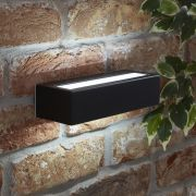 Biard Apliqué Exterior de Acero Inoxidable Negro con LED Integrado - Ternay