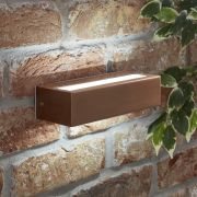 Biard Apliqué Exterior de Acero Inoxidable Efecto Cobre con LED Integrado - Ternay