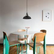 Lámpara de Techo de Suspensión Moderno de Latón con Acabado de Color Negro - Brera