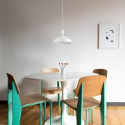 Biard Lámpara de Techo de Suspensión Moderno de Latón con Acabado de Color Blanco - Brera