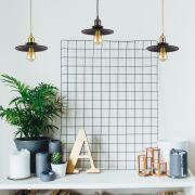 Biard Lámpara Suspendida Estilo Vintage de Acero Disponible con Diferentes Acabados- Noord