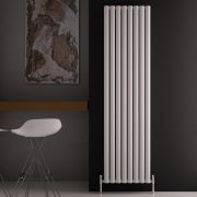Radiador de Diseño Vertical Doble - Blanco - 1800mm x 470mm x 76mm - 2004 Vatios - Revive Air