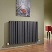 Radiador de Diseño Eléctrico Horizontal - Antracita - 635mm x 1000mm x 54mm - 1 Elemento de 1200W  - Sloane