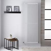 Radiador Toallero de Diseño Vertical - Color Blanco - 1800mm x 605mm - 2161 Vatios - Roma