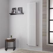 Radiador de Diseño Vertical Doble - Blanco - 1806mm x 392mm -1025 Vatios – Neive