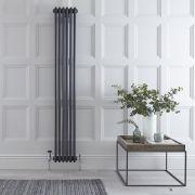 Radiador de Diseño Vertical Triple Tradicional - Antracita - 1800mm x 293mm x 100mm - 1169 Vatios - Regent
