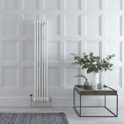 Radiador de Diseño Vertical Doble Tradicional - Blanco - 1500mm x 293mm x 68mm - 822 Vatios - Regent