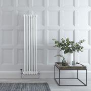 Radiador de Diseño Vertical Doble Tradicional - Blanco - 1500mm x 383mm x 62mm - 1096 Vatios - Regent