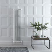 Radiador de Diseño Vertical Triple Tradicional - Blanco - 1500mm x 383mm x 100mm - 1387 Vatios - Regent