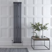 Radiador de Diseño Vertical Triple Tradicional - Antracita - 1800mm x 360mm x 100mm - 1737 Vatios - Regent