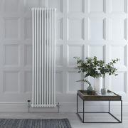 Radiador de Diseño Vertical Doble Tradicional - Blanco - 1800mm x 470mm x 70mm - 1556 Vatios - Regent