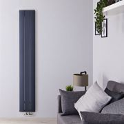 Radiador de Diseño Vertical Con Conexión Central - Aluminio - Antracita - 1600mm x 280mm x 46mm - 1021 Vatios - Aurora