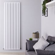 Radiador de Diseño Vertical Doble - Blanco - 1800mm x 590mm x 76mm - 2506 Vatios - Revive Air