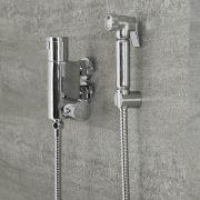 Kit con Ducha Higiénica para WC con Llave Mezcladora Termostática