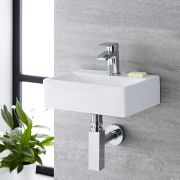 Lavabo Suspendido Rectangular de Cerámica 360x250mm - Sandford