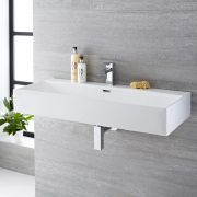 Lavabo Suspendido Rectangular de Cerámica 1000x420mm - Sandford
