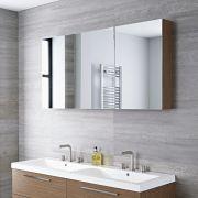 Espejo con Armario de Baño 1350x150x700