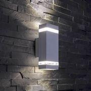 Biard Apliqué de Pared Exterior Bidireccional con Diseño Cúbico Gris - Architect