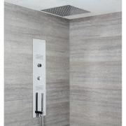 Panel de Ducha Digital Empotrable con Alcachofa de Ducha de Techo Empotrable de 400mm - Narus