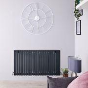 Radiador de Diseño Horizontal - Antracita - 635mm x 1180mm x 53mm - 1202 Vatios - Sloane