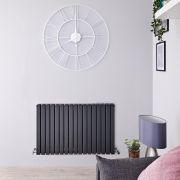Radiador de Diseño Horizontal Doble - Antracita - 635mm x 1000mm x 71mm - 1587 Vatios - Sloane