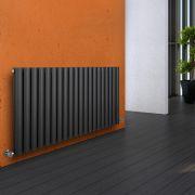 Radiador de Diseño Horizontal Doble - Antracita - 635mm x 1180mm x 78mm - 1863 Vatios - Revive