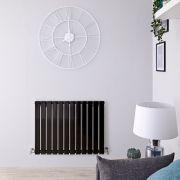 Radiador de Diseño Horizontal - Negro Lúcido - 635mm x 840mm x 46mm - 751 Vatios - Delta