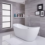 Bañera Exenta Oval Blanca 1830 x 710 x 730mm - Otterton