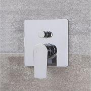 Mezclador de Ducha Manual Moderno de 2 Salidas Cromado - Harting