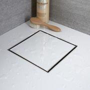Sumidero de Ducha Cuadrado de 200mm con Rejilla Integrada con Diseño de Azulejo