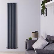 Radiador de Diseño Vertical Doble - Antracita - 1780mm x 354mm x 78mm - 1401 Vatios - Revive