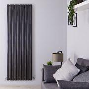 Radiador de Diseño Vertical Doble - Negro Lúcido - 1780mm x 590mm x 78mm - 2335 Vatios - Revive