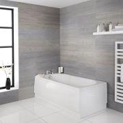Bañera Rectangular Acrílica Blanca 1700x800mm