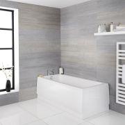 Bañera Rectangular Acrílica Blanca Retro de 1800x800mm