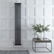 Radiador de Diseño Vertical Doble Tradicional - Negro - 1800mm x 293mm x 68mm - 934 Vatios - Regent